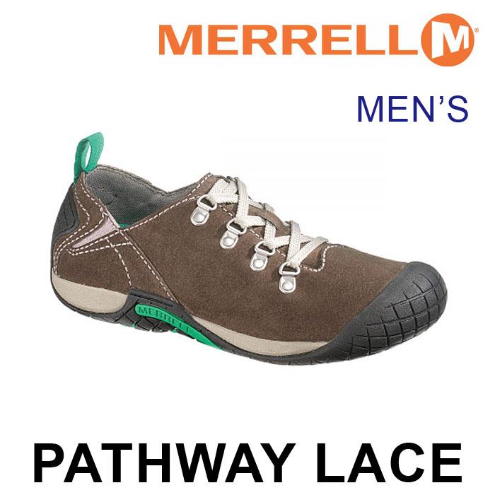 送料無料 メレル パスウェイ レース スニーカー メンズ ローカット シューズ 靴 スエード アウトドア ブラウン 茶 男性 MERRELL PATHWAY LACE