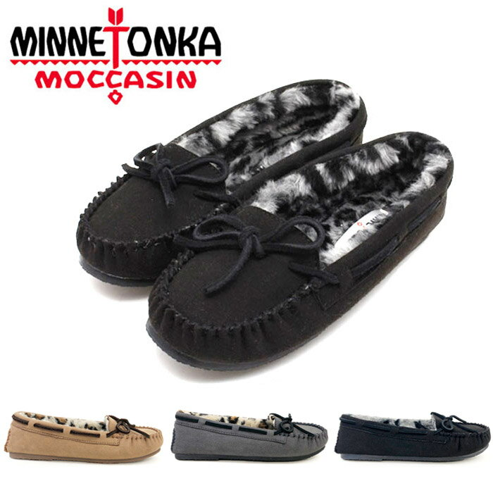 即納 あす楽対応 ミネトンカ モカシン レディース ウィメンズ ローファー スリッポン キミー 国内正規品 黒 チェスナット チャコール 赤 ボア MINNETONKA KIMMY SLIPPER 靴 K228 スリップオン