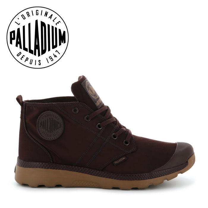 【送料無料】パラディウム PALLADIUM PALLAVILLE PUDDLE LITE レディース メンズ スニーカー ブラウン PUCE LIGHT GUM ハイカット ミッドカット 大きいサイズ 75611-248 靴 くつ クツ 台風 大雨 大雪 対策