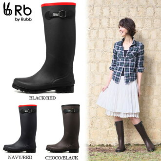 ◆ ◆ Rubb TROYES rain boots ladies love Trois denim shoe boots rain shoes can be long and