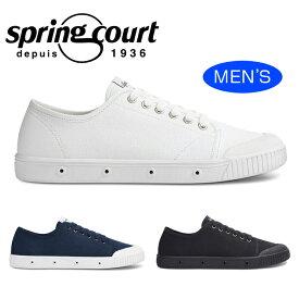 【送料無料】SPRING COURT スプリングコート G2 CANVAS キャンバス 白 ホワイト ミッドナイト青 ブルー 黒 ブラック スニーカー ローカット メンズ コートシューズ G2N-V1 靴 くつ クツ