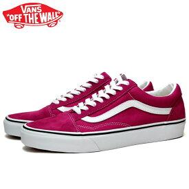 送料無料 バンズ オールドスクール スニーカー メンズ レディース ローカット スケートシューズ 定番 赤 ピンク VANS OLD SKOOL CERISE/TRUE WHITE VN0A4U3B2NE 靴 くつ クツ