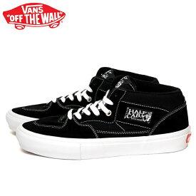 送料無料 バンズ スケート ハーフキャブ スニーカー メンズ レディース ミッドカット スケートシューズ 定番 ブラック ホワイト VANS SKTE HALF CAB VN0A5FCDY28 靴 くつ クツ BLACK/WHITE