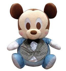 ベビーミッキー(フォーマル)ウェイトドール:生まれたときと同じ重さでつくるディズニーウェイトドール(足裏刺繍込み、送料込)【名入れ】ディズニーキャラクター 納期:入金、受注確認より3週間前後〜