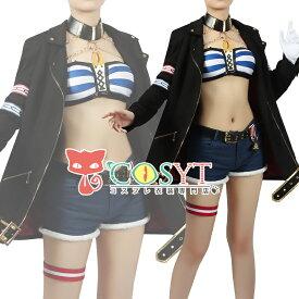 ウマ娘プリティーダービー ゴールドシチー 勝負服 コスプレ衣装 カジュアル へそ出し レディース カッコイイ コスチューム cosplay