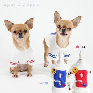 ♪メール便OK!1枚まで♪スマイルスポーティTシャツ☆APPLEAPPLE★アップルアップル 【ドッグウェア】【ドッグウエア】【犬服】【犬 服】【犬の服】【春夏新作】【犬Tシャツ】