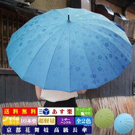 傘 京都花舞妓 最高級傘 -柄が浮き出るジャンプ傘 男女 晴雨兼用 レディース メンズ 60cm 軽量 uvカット ブランド 大きい 父の日 プレゼント ギフト