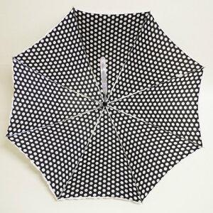 レディース傘フリル付き水玉パラソルホワイト白ジャンプ式女の子用軽量おしゃれな傘