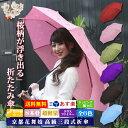 送料無料 新花舞妓「桜雫 3段折傘」 高級 おりたたみ傘 雨に濡れると桜柄が浮き出る晴雨兼用 超軽量 丈夫 グラスファイバー アンブレラ