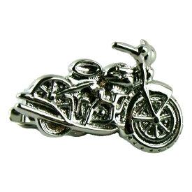 ネクタイピン ユニーク バイク オートバイ シルバー 送料無料