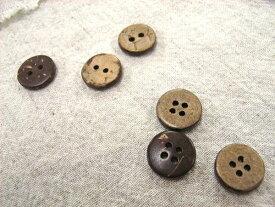 【ネコポス可能/代引き・配達日時指定不可】木ボタン(13mm・2穴/4穴・ココナツ)APPLE HOUSE