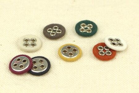 くるみボタン(12mm・綿・4穴)
