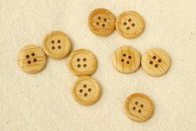 木目ボタン(4穴・15mm・たらい型)【ネコポス可能/代引き・配達日時指定不可】