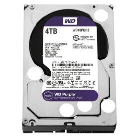 ハードディスク・HDD 3.5インチ WESTERN DIGITAL ウエスタンデジタル WD40PURZ 4TB SATA600 5400 (容量:4TB 回転数:5400rpm キャッシュ:64MB インターフェイス:Serial ATA600)(0718037856773)