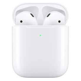 (最大1,000円OFFクーポン配布中)イヤホン・ヘッドホン APPLE アップル AirPods with Wireless Charging Case 第2世代 MRXJ2J/A (タイプ:インナーイヤー 装着方式:完全ワイヤレス(左右分離型))(JAN 4549995054170)