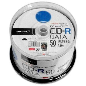 【ポイント最大36倍★1月25日限定★店内全品対象】【まとめ買い 6個セット】  HI-DISC 太陽誘電技術継承メディア 48倍速 データ用CD-R50枚パック ホワイトワイドプリンタブル対応 TYCR80YP50SP