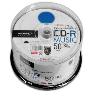 【ポイント最大36倍★1月25日限定★店内全品対象】【まとめ買い 6個セット】  HI-DISC 太陽誘電技術継承メディア 32倍速 音楽用CD-R50枚パック ホワイトワイドプリンタブル対応 TYCR80YMP50SP お