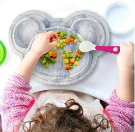 新色 クーシーズ/Kushies ひっくり返らない ベビー食器 マーブル 赤ちゃん シリコン 食器 皿 ピッタリ吸着