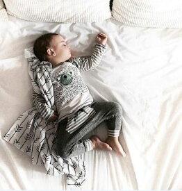 クーシーズ/Kushies お昼寝ケット プレミアムコットン100% ブランケット コットンフランネル ベビー モノトーン