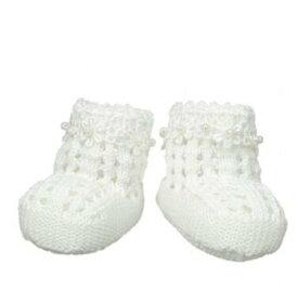Jefferies socks ジェフリーズソックス 新生児セレモニー ブーティー クロシェ編み ハンドメイド 女の子 ベビー フォーマル 靴 お祝い 記念撮影 セレモニードレスに