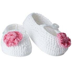 Jefferies socks ジェフリーズソックス 新生児セレモニー ブーティー ピンクフラワー ハンドメイド クロシェ編み 女の子 ベビー フォーマル 靴 お祝い 記念撮影 セレモニーに