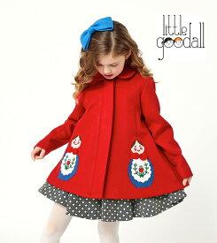 Little Goodall リトルグドール マトリョーシカコート 赤 キッズコート 女の子 コート ジャケット