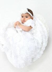 3239943799349 Lito リト リボンチュールドレス Daisy 女の子 ベビー フォーマル 退院着 お祝い お宮参り 記念撮影