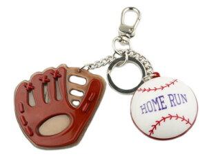 Adelaide New York アデレイドニューヨーク ベースボールキーホルダー 男の子 女の子 野球 バッグチャーム【Baseball Key Chain】