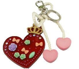 Adelaide New York アデレイドニューヨーク ハートキーホルダー 女の子 アクセサリー【Heart Key Chain】