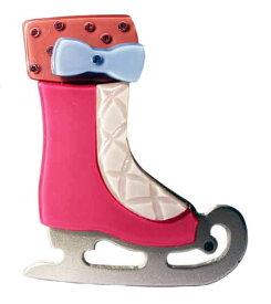 Adelaide New York アデレイドニューヨーク アイススケートヘアクリップ ヘアピン スワロフスキー アクセサリー 女の子 キッズ【Pink Ice Skate Clip】