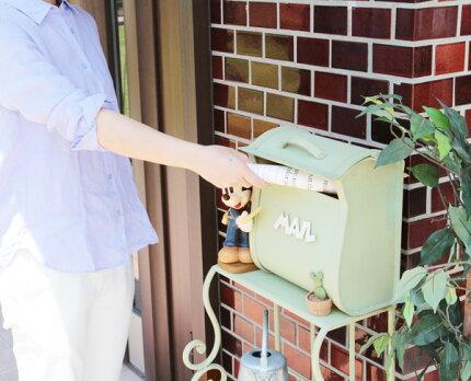 スタンドポスト(Disney)ポストマン・ミッキーMailBox
