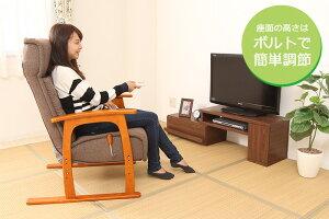 コイルバネ式高座椅子