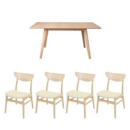 ダイニングテーブルセット,5点セット,4人掛け,4人,北欧,ダイニングテーブル,ダイニングチェア,4脚,ダイニングセット
