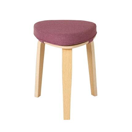 スツール,木製,三角スツール,トラン,Tran,サイドテーブル,クッション,補助椅子,玄関,待合室,グレー,ピンク,グリーン,Stool4本脚,椅子,三角