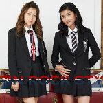 2471-2508卒業式スーツ女の子ロックテイストフォーマルスーツ付け替えできるネクタイ2本付MICHIKOLONDON/ミチコロンドンコシノ140cm150cm160165cm(ゆったり・ふくよかサイズあり)