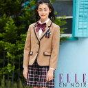 【40%OFF】卒業式 スーツ 女の子 小学生 格子スカートスーツ 150 160 165cm (4001-2502) ELLE en noir/エルアンノワー…