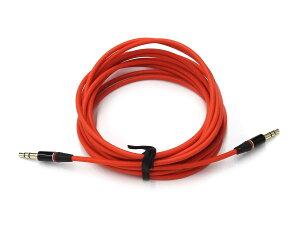 ANE-SOUNDCABLEレッド直型+直型3m金メッキ端子(キャップ付):ステレオミニプラグケーブル(3.5Фプラグ径3.5mm3芯タイプ)アンプヘッドホンイヤホンスプリッター他オーディオ各機器接続内線:高音質無酸素銅OFC-サウンドケーブル(ANE-OFC-3M-RD-S+S+)