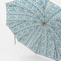 coupoleクーポールCC-51077リバティプリント晴雨兼用折り畳み傘バンブーハンドル花柄鳥柄バードUVカット日傘雨傘婦人傘天然木|ファッショングッズ春夏21SS