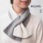 ecuvo,エクボ228-11ニットショートマフラーウールリバーシブル2WAYユニセックスサスティナブル|定番ファッショングッズ秋冬