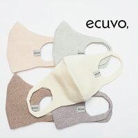 【6点までネコポス可】ecuvo,エクボ823-41オーガニックコットンプレーティングマスクフードテキスタイル日本製SAKURA/COFFEEBEANS/BLUEBERRY|定番ライフスタイル