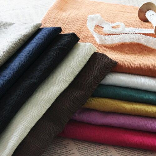 生地 布│強撚糸 40/1番手 綿ドライ ナチュラルクレープ 生地■女性らしい品のある上品な趣き