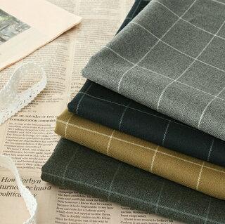 生地布│レーヨンMIX綾織ウィンドウペンチェック生地■柔らかでしっかりとした秋冬素材