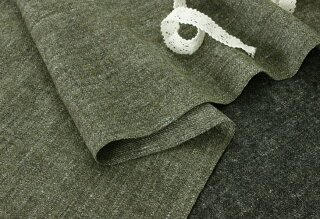 生地布│洗いをかけた綾織シェットランドウールリネン■暖かい最高品質のリネンウール