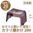 【リッチェル】風呂椅子 カラリ 腰かけ 20H スモークブラウン【あす楽対応】【お風呂 浴室 風呂椅子 風呂いす】