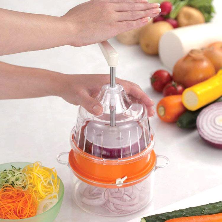 回転式野菜調理器Clulu(クルル)【スライサー野菜カッタークルル野菜スライサー 愛プロダクツ】