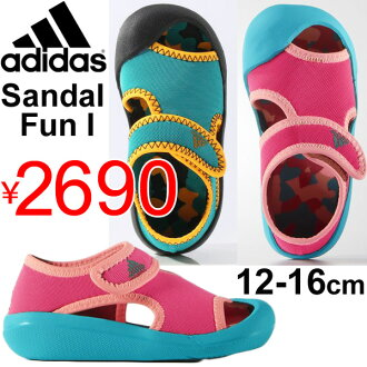 Baby shoes adidas adidas kids shoes baby kids Sandals BABY Thunder fan Infant pool Beach bathing beach /Baby-Fun/05P03Sep16