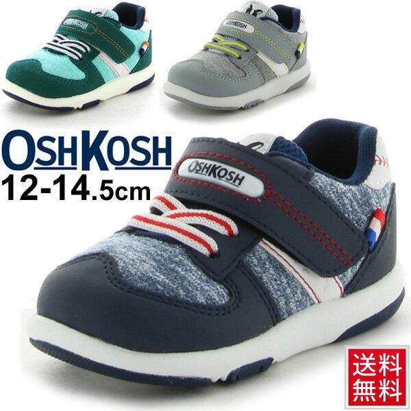 オシュコシュ ベビーシューズ OSHKOSH Bgosh ベビー靴 ベビースニーカー 子供靴 幼児 男の子 12cm-14.5cm 男児 ベロクロ/OSK-B405/