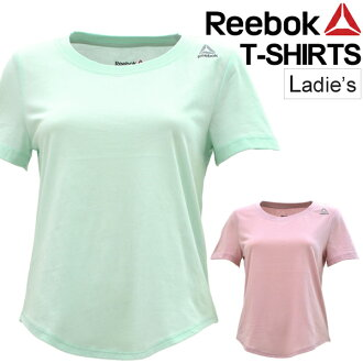 Short-sleeved T-shirt Lady's Reebok Reebok short sleeves shirt fitness gym training cut-and-sew tops one point woman woman BK3845 BK3846 /NQD72