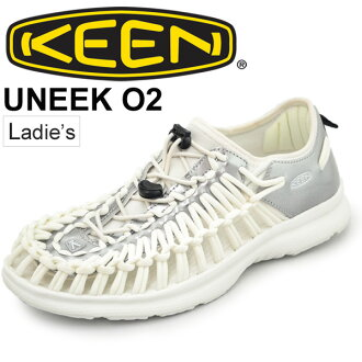KEEN女士鞋UNEEK O2独特的户外财鞋公开空气运动鞋休闲活动市镇使用白女性鞋keen正规的物品1017225/UneekO2W