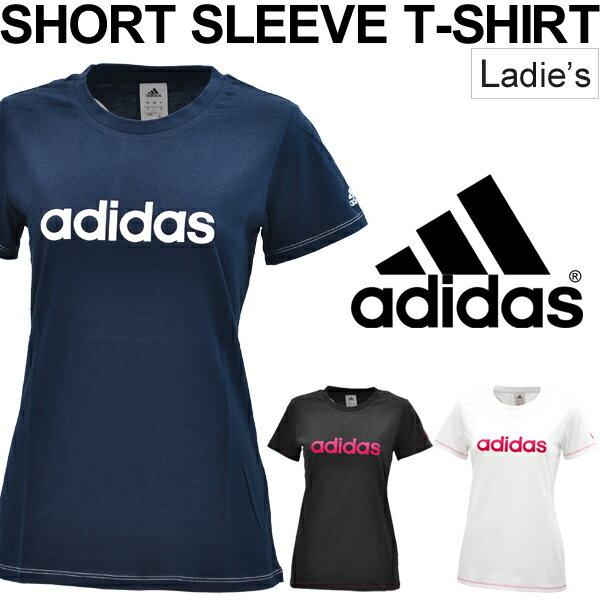 半袖Tシャツ レディース アディダス adidas ロゴT 女性用 スポーツ カジュアル ウェア トップス スポーツMIX 半そで /EMT30